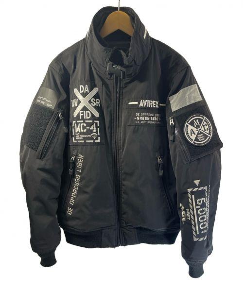 AVIREX(アヴィレックス)AVIREX (アヴィレックス) MA-1ジャケット ブラック×ホワイト サイズ:Mの古着・服飾アイテム