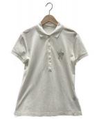 MONCLER(モンクレール)の古着「ワンポイントポロシャツ」|ホワイト