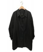 LOUIS VUITTON(ルイヴィトン)の古着「ステンカラーコート」 ブラック