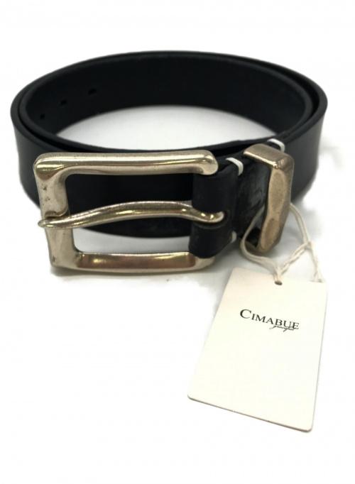 CIMABUE(チマブエ)CIMABUE (チマブエ) レザーベルト ネイビー 牛革の古着・服飾アイテム