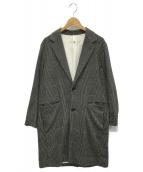 UNUSED(アンユーズド)の古着「グレンチェックチェスターコート」 グレー