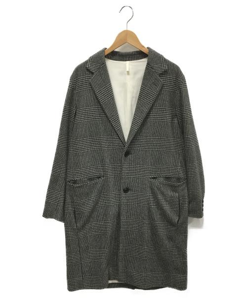 UNUSED(アンユーズド)UNUSED (アンユーズド) グレンチェックチェスターコート グレー サイズ:2の古着・服飾アイテム