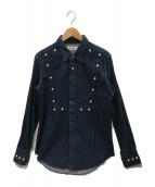 UNUSED(アンユーズド)の古着「デニムジップアップシャツ」 インディゴ
