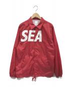 WIND AND SEA(ウィンダンシー)の古着「コーチジャケット」|レッド