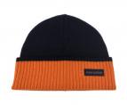 LOUIS VUITTON(ルイヴィトン)の古着「ニット帽」|ネイビー×オレンジ