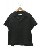 ETHOSENS(エトセンス)の古着「ジャカード半袖シャツ」|ブラック