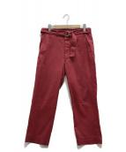 UNUSED(アンユーズド)の古着「ベルテッドパンツ」|レッド