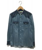 nonnative(ノンネイティブ)の古着「ランチャーシャツ」 ブルー