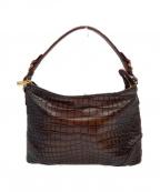 COCOCELUX GOLD(ココセリュックスゴールド)の古着「型押し2WAYバッグ」|ブラウン