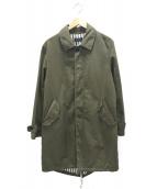 FRED PERRY(フレッドペリ)の古着「フーデッドコート」 グリーン