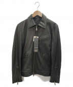 JACKROSE(ジャックローズ)の古着「シングルレザーライダースジャケット」 ブラック