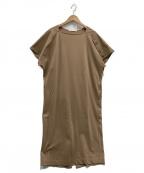 qualite(カリテ)の古着「釦スリーブワンピース」|ブラウン