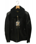 RUDE GALLERY BLACK REBEL(ルードギャラリーブラックレーベル)の古着「レザージャケット」 ブラック