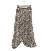 VERMEIL par iena(ヴェルメイユ パー イエナ)の古着「ハートプリントスカート」|レッド×ベージュ