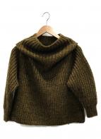 knit brary(ニット ブラリー)の古着「Funnel Neck Sweater」|ブラウン