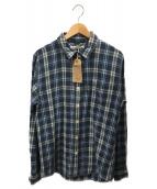 REMI RELIEF(レミレリーフ)の古着「チェックレギュラーシャツ」 ブルー