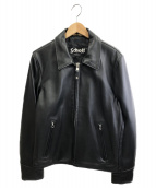 Schott(ショット)の古着「レザーTRUCKERジャケット」 ブラック