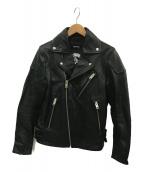 DIESEL(ディーゼル)の古着「ダブルライダースジャケット」 ブラック