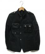 DIESEL BLACK GOLD(ディーゼルブラックゴールド)の古着「ジップアップジャケット」 ブラック
