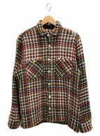 WAX LONDON(ワックスロンドン)の古着「バスケットチェックシャツ」|ベージュ