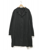ARMANI COLLEZIONI(アルマーニコレツォーニ)の古着「オーバーステンカラーコート」|ブラック