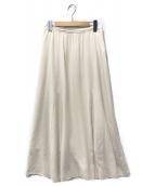 SLOBE IENA(イエナスローブ)の古着「CHRADE 切替スカート」|アイボリー
