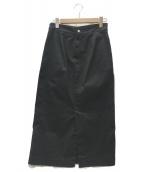 FRAMeWORK(フレームワーク)の古着「チノクロスストレッチスカート」 ブラック