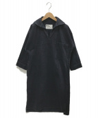 MHL(エムエイチエル)の古着「スキッパーワンピース」|ネイビー
