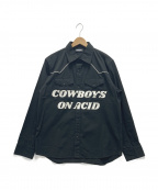 PLEASURES(プレジャーズ)の古着「COWBOYS SHT」 ブラック