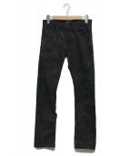 DIESEL BLACK GOLD(ディーゼルブラックゴールド)の古着「デニムパンツ」|ブラック
