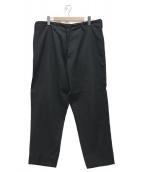 Yohji Yamamoto pour homme(ヨウジヤマモトプールオム)の古着「ウールギャバジンイージーワイドパンツ」|ブラック
