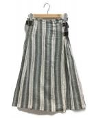 ONEIL OF DUBLIN(オニール オブ ダブリン)の古着「リネンラップスカート」|グレー