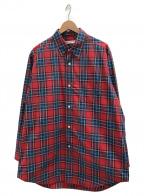 AMERICAN RAG CIE(アメリカンラグシー)の古着「ビッグシルエットシャツ」|レッド×ブルー