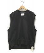 stein(シュタイン)の古着「Separated Knit Vest」|ブラック