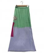 PLEATS PLEASE ISSEY MIYAKE(プリーツプリーズ イッセイミヤケ)の古着「プリーツスカート」|グリーン