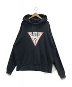GUESS(ゲス)の古着「プルオーバーパーカー」|ブラック