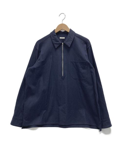 COMOLI(コモリ)COMOLI (コモリ) フラノZIPシャツ ネイビー サイズ:2の古着・服飾アイテム