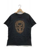lucien pellat-finet(ルシアンペラフィネ)の古着「ラインストーンカットソー」 ブラック