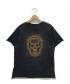 lucien pellat-finet(ルシアン・ペラフィネ)の古着「ラインストーンカットソー」|ブラック