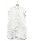 Gymphlex(ジムフレックス)の古着「フレンチリネンシャツワンピース」|ホワイト