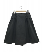 FOXEY NEWYORK(フォクシーニューヨーク)の古着「フレアスカート」|ブラック