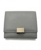 SMYTHSON(スマイソン)の古着「2つ折り財布」 グレー