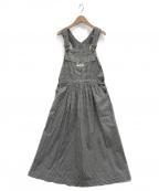 PINK HOUSE(ピンクハウス)の古着「サロペットスカート」|ブラック