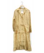 TODAYFUL(トゥデイフル)の古着「シアーシャツガウン」|ベージュ