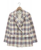 ROPE mademoiselle(ロペマドモアゼル)の古着「リングツィードジャケット」|ベージュ