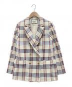 ROPE mademoiselle(ロペマドモアゼル)の古着「リングツィードジャケット」 ベージュ