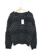 GRACE CONTINENTAL(グレースコンチネンタル)の古着「セーター」|ブラック