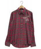 STELLA McCARTNEY(ステラ・マッカートニー)の古着「タータンチェックシャツ」|レッド