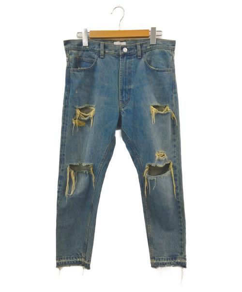 STUDIO SEVEN(スタジオ セブン)STUDIO SEVEN (スタジオ セブン) クラッシュデニム インディゴ サイズ:なしの古着・服飾アイテム