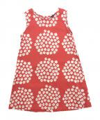 marimekko(マリメッコ)の古着「ノースリーブワンピース」|レッド